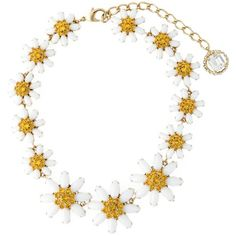 Dolce & Gabbana daisy necklace found on Polyvore featuring jewelry, necklaces, white, white necklace, dolce gabbana jewelry, dolce&gabbana, daisy necklace and daisy jewelry