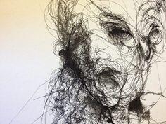 Haddimi öğrenmek(TEY)im . Scribble Art, Psy Art, Portrait Art, Portraits, Abstract Portrait, Fantastic Art, Gravure, Surreal Art, Art Sketchbook