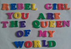 rebel girl, you are the queen of my world--Bikini Kill Riot Grrrl, Rebel, Bikini Kill, Isak & Even, My Vibe, Oui Oui, Music Icon, Wall Collage, Ideas