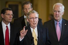 Mitch McConnell goes into fetal position. Harry Reid is the new leader of the Senate. http://www.redstate.com/2015/02/24/mitch-mcconnell-goes-fetal-position-harry-reid-new-leader-senate/