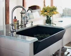 Slate Farmhouse Sink : two sinks are made of hand-sanded, hand-oiled salvaged slate ...