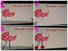 Baby Shower Thank Yous - DIY  Can be used for thank yous, invitations or even birth announcements!   quick - easy & cheap!