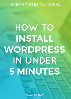 One question I see asked a lot is how to get started with WordPress, how to install WordPress, and what is the first step. It's really very simple to install WordPress on your web host and you don't even know anything technical. In fact, I bet you can learn how to install WordPress in under 5 minutes!