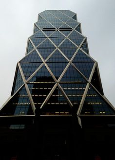 Hearst Tower rises into another gray January day.  (Twitter photo by @Styufeeva_Irina)