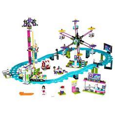 ¡Disfruta en el parque de atracciones con el grupo de 4 amigas de LEGO Friends.
