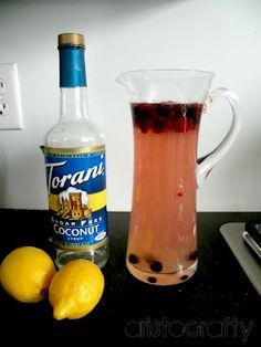 Coconut lemonade - perfect drink for Easter dinner.
