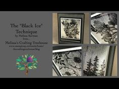 "Unique ""Black Ice"" Paper Crafting Technique Debut - A Club Project - YouTube"
