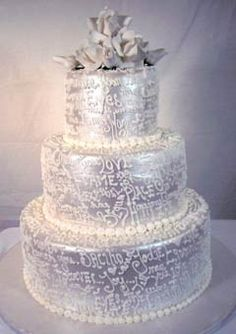 Design Wedding Cakes and Toppers: Three Tier Silver Round Wedding Cake