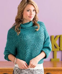 Ravelry: Cowl-Neck Pullover pattern by Mercedes Tarasovich-Clark