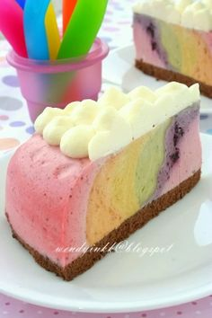 Table for 2.... or more: Rainbow Fruit Cheesecake - No Bake Cheesecakes #2