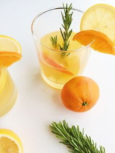 This Rosemary Citrus Gin and Tonic is refreshing, festive, and seasonal, using winter citrus such as Meyer lemons and clementines.