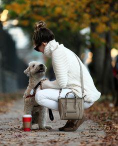 A Weekend Walk via BrooklynBlonde.com / @Helena Glazer Custom Made Moccasins: M.Gemi ℅ | Sweater: similar | Denim: Paige | Bag: Celine | Sunglasses: Celine Wednesday, November 11, 2015