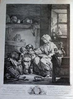 Jacques Firmin Beauvarlet (Abbeville, 25 septembre 1731- Paris, 7 décembre 1797) La maman d'après Greuze