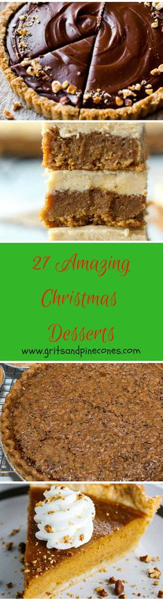 Whether you are looking for delicious and decadent classic desserts or new twists on old favorites for the Holidays, I have you covered. www.gritsandpinecones.com