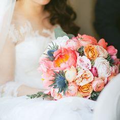 Bride boquet - pink colorful summer