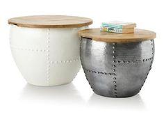 Bijzettafels 'drum'  http://www.hendersandhazel.com/nl/woonaccessoires/artikel/bijzettafels-drum-hoogte-56-cm-/27062dec/