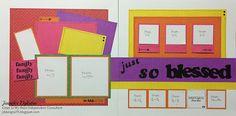 jd designs: Just So Blessed -- Taste of Summer scrapbook layout #ctmhtos
