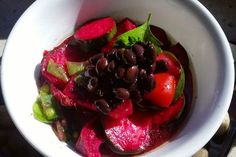 Zucchini and beet salad with black beans recipe on Food52