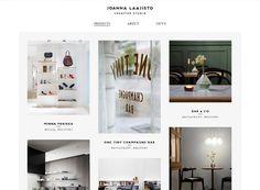 Let your product/photography speak for itself - Minimalist website design inspiration: Joanna Laajisto
