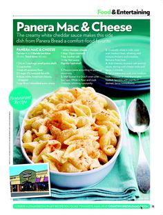 Panera Mac & Cheese Recipe. Yes.