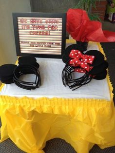 Mickey Mouse And Minnie Mouse Headband Children Party Minnie Mouse Ears Baby Hair Accessories Red Bow Kid Birthday Girl Headwear from Xiemarry,$1.54 | DHgate.com