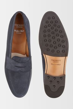 bbe596633759 Hackett Suede Penny Loafer - Shoes - Accessories