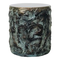 Drum of Sculpted Cast Bronze custom furniture by Samuel Amoia Associates Interior Design Studio. Drum Side Table, Side Tables, Sculpted Arms, Most Beautiful Words, Modern Side Table, Organic Modern, Bespoke Furniture, Interior Design Studio, Vintage Table