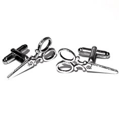 A personal favorite from my Etsy shop https://www.etsy.com/listing/268313668/silver-shears-cufflinks-mens-handcrafted