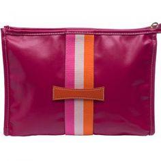 Pink bag w stripes Toiletry Bag 4cfab81a9aad6