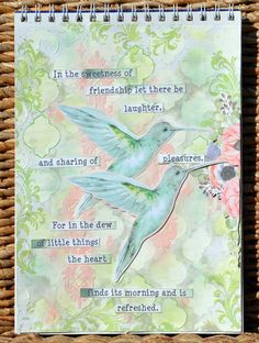 A mixed media journal page using the pretty and gorgeous Butterfly Kisses Collection! ;-)