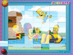 Quebra-cabeça, relaxar dos Simpsons