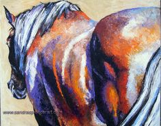 Original Horse Rear Painting 16x20 painted by knife