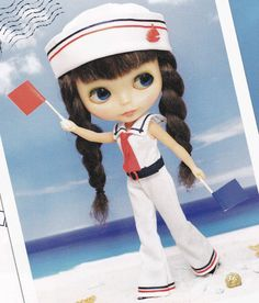 Kenner Neo Blythe 22cm doll Sailor Marine Chic Overalls with tie and Hat set pdf E PATTERN in Japanese and Pieces Titles in English