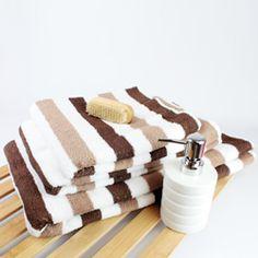 Miami Striped Towel - Chocolate