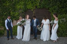 How AMAZING do Arianna and her bridesmaids look in Ivory Rewritten dresses? Ivory Bridesmaid Dresses, Bridesmaids, High Street Dresses, Wedding Jumpsuit, Alternative Wedding Dresses, Contemporary Style, Modern, Party Guests, Mix N Match