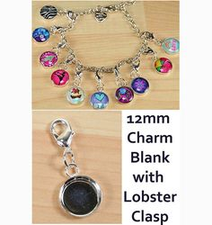 50 ct. 12mm Charm Pendant Tray with lobster by purplemountainbtq, $14.95