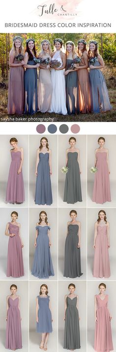mismatched fall bridesmaid dresses