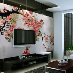 Japanischer Stil-modernes Wohnzimmer Tapete