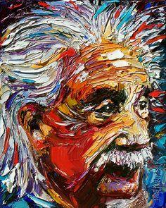 Albert Einstein by artist Debra Hurd