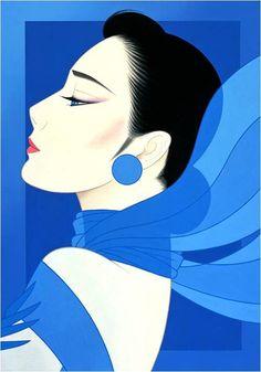 🔆🔆🔆by: Ichiro Tsurato🔆🔆🔆 Japanese visual artist, was born in 1954 in the city of Hondo in Kumamoto Prefecture, Ichiro Tsuruta grew up in Kyushu's Amakusa Region, Japan. Illustration Techniques, Illustration Art, Pin Up, Art Japonais, Art Deco Posters, Airbrush Art, Japanese Painting, Japan Art, Japanese Artists