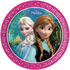 Disney Frozen party plates. Pack of 8 paper plates. Plate size: 23 cm #Frozen #FrozenParty #DisneyFrozenParty #girlsparty #partytableware