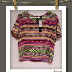 Top Really nice top, ...great summer colors :) 100% Polyester  NWT Fun&Flirt Tops