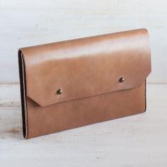 Mocha A5-size Clutch / Hand Bag — Noise Goods