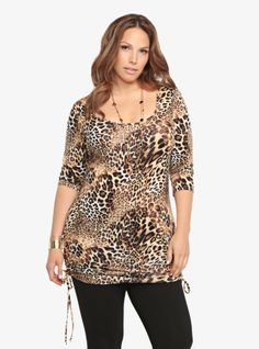Show your wild side in our Animal Print Tunic.