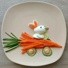 Food Art For Kids, Fun Snacks For Kids, Cooking With Kids, Toddler Meals, Kids Meals, Kreative Snacks, Creative Food Art, Food Carving, Food Garnishes