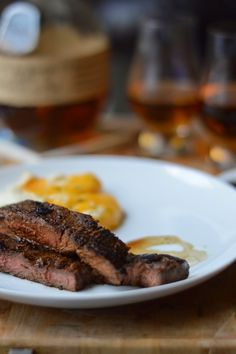 The McClarnon Situation: Bourbon Flank Steak and Twice Baked Mashed Potatoes