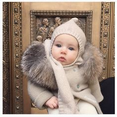 """301 Likes, 21 Comments - OSCARETVALENTINE (@oscaretvalentineparis) on Instagram: """"Amazingly cute picture of @yelenam 's baby angel wearing our Louis cashmere scarf hood❤️❤️❤️ Also,…"""""""