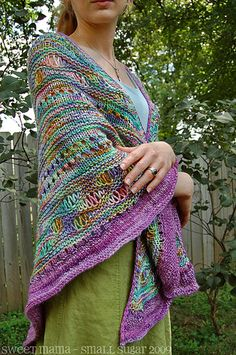 this is one of the prettiest shawls I have ever made i love it and the pattern is so easy and well written