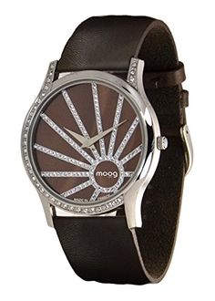Moog Paris--Damen-Armbanduhr Zifferblatt Schokolade Armband Dunkelbraun Leder Rindleder, hergestellt in Frankreich-m45222-001 - http://uhr.haus/moog-paris/moog-paris-damen-armbanduhr-zifferblatt-armband-3