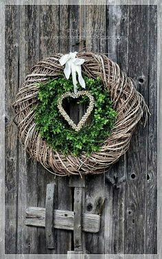 Winter February Valentine's Day Double Wreath & Heart DOOR JANK IN JANUARY IN ., Winter February Valentine's Day double wreath & heart wooden door in January for introduction :). Fall Garland, Autumn Wreaths, Holiday Wreaths, Christmas Crafts, Christmas Decorations, Christmas Ornaments, Holiday Decor, Diy Wreath, Door Wreaths